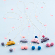 Korea Handmade Cute Fabric Cartoon Cloud Children Necklace For Girls Kids Apparel Accessories-HZPRCGNL038F