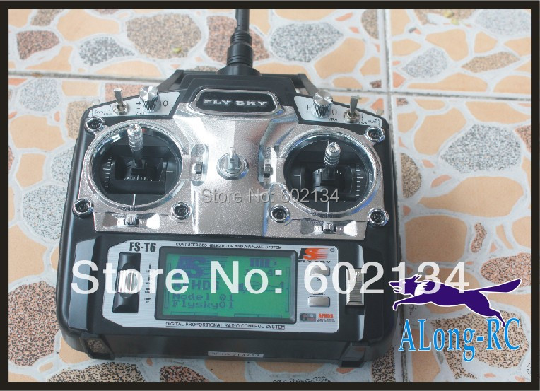 RC airplane /model hobby/ RC MODEL   Flysky FS-T6 6ch 2.4g LCD Screen Transmitter + FS R6B Receiver /FOR HOBBY new phoenix 11207 b777 300er pk gii 1 400 skyteam aviation indonesia commercial jetliners plane model hobby
