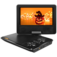MALUOKASA 9 8 Portable DVD Player Car CD Player Swivel Screen Monitor Game Player AC Adapter
