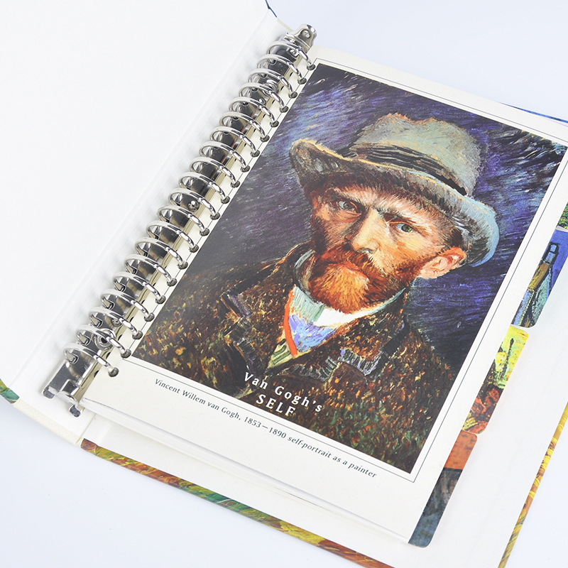 Image 4 - A5 Van Gogh Notebook Planner School Office Stationery Creative Spiral Journal Notebook Thick Notebook Diary Book Bullet Journal-in Notebooks from Office & School Supplies