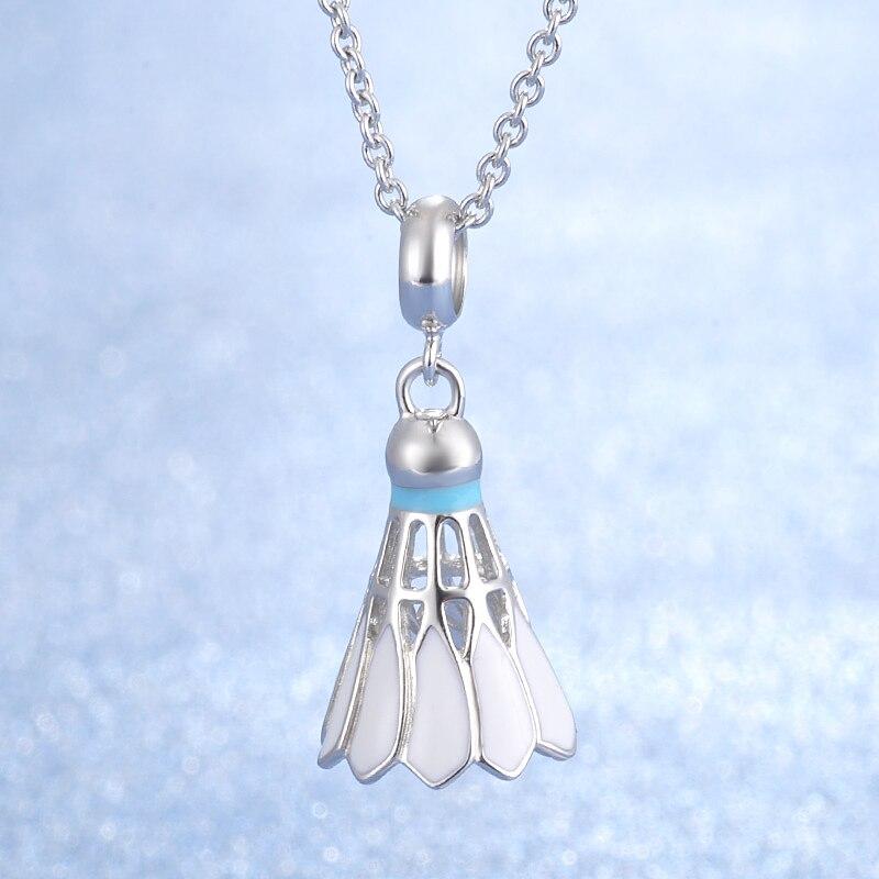 Бадминтон дизайн ювелирных изделий Лидер продаж Популярная модель 925 Серебряный кулон ожерелье