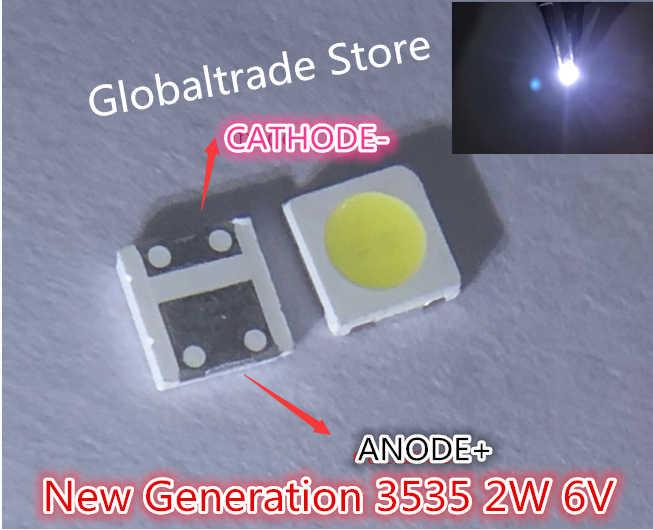60 uds para LG Innotek LED nuevo y Original LED 2W 6V luz blanca fría 3535 iluminación LCD trasera para TV de aplicación