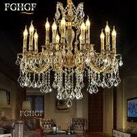 Большой K9 хрустальная люстра роскошь свет люстры лампы Блеск E14 E12 лампы для гостиной Спальня hotel