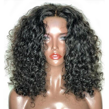 Lace Front Human Hair Wigs Pre Plucked Human Lace Front Wigs Brazilian Short Curly Wig Bleached Knots 130% Remy