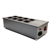 High Quality 8 Ways Schuko Socket AC Power Distributor 3300W/15A 50HZ 3KG Power Plant With Surge Protection VE80 Filter