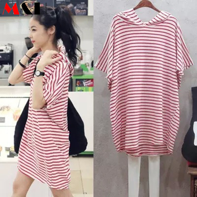 Summer Dress 2016 Loose Striped Batwing Dress Casual Big Size T Shirt Dress  Plus Size Hoodie Dresses Women Cheap Clothes China 686cd5d02