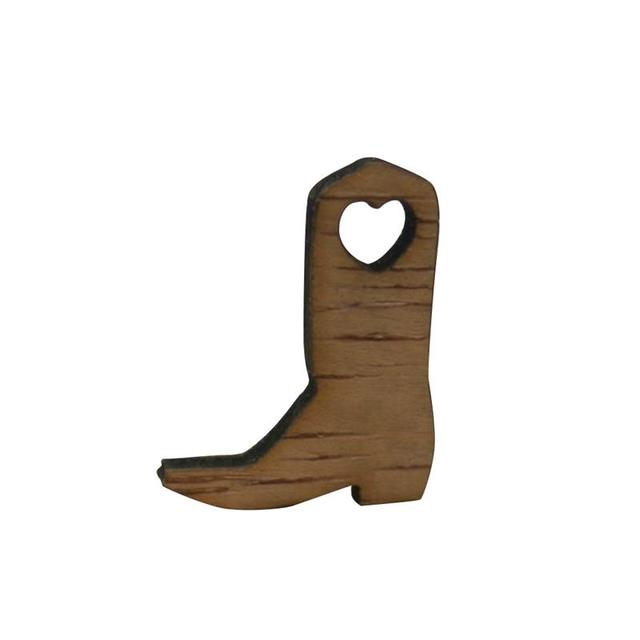 50pcs Miniature Wooden Cowboy Boots Embellishments Crafts for Wedding Party  Decoration be2a7ccfa554