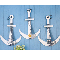 hanging wooden crafts pendant anchor Mediterranean style helmsman anchor anchor starfish seabirds paragraph paragraph