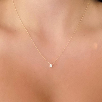 Shiny Zircon Invisible Transparent Thin Line Simple Choker Necklace Women Jewelry 2