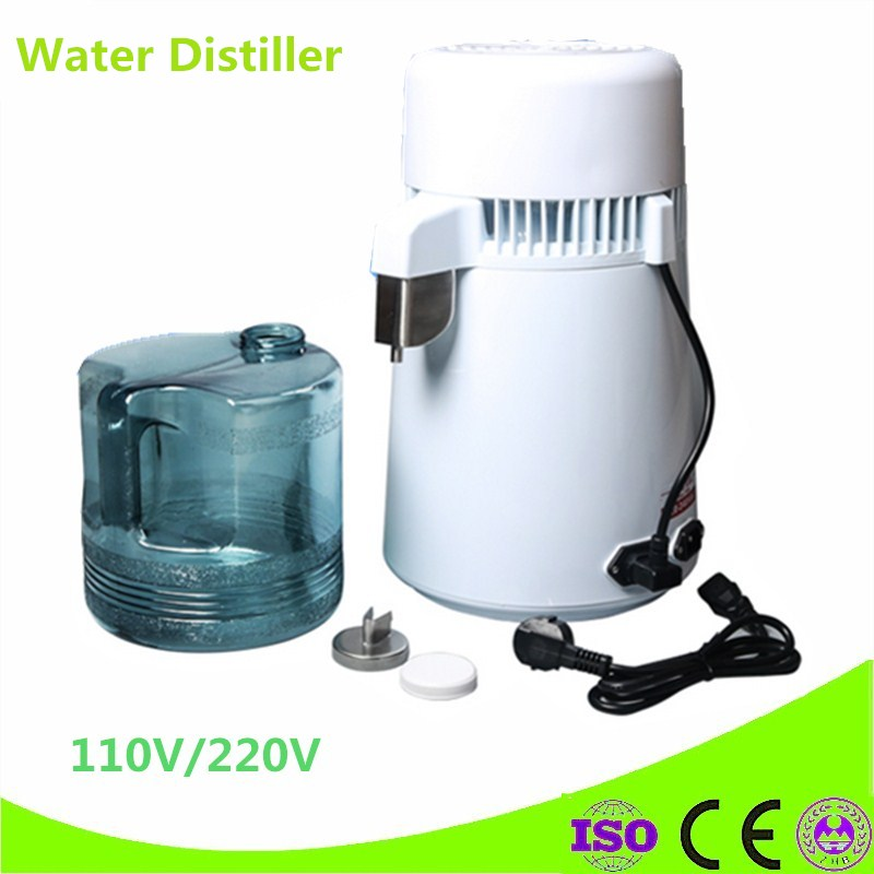Latest Style High Quality 4L Pure Water Stainless Steel Water Distiller Purifier Body Filter Water Distillation Equipment