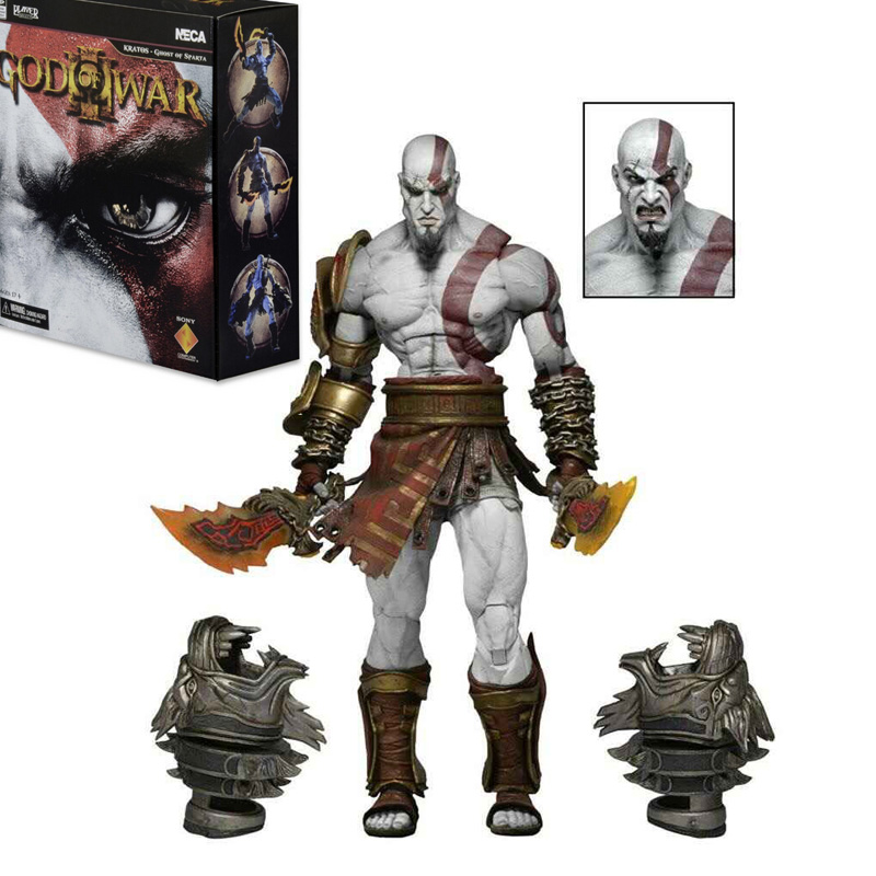 NECA God of War 3 Ghost of Sparta Kratos PVC Action Figure Collectible Model Toy 22cm RETAIL BOX
