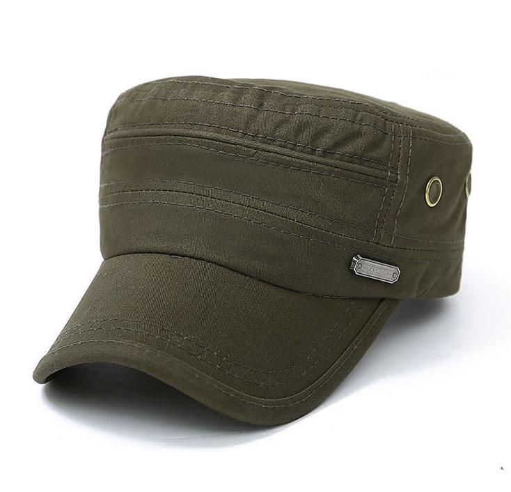 2017 envío libre de los sombreros de algodón cap fit hombres y mujer  primavera y otoño gorras de visera viejo lavado plana sombreros en Sombreros  militares ... d3c0059409c