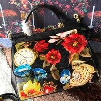 Роскошная итальянская брендовая сумка в этническом стиле, женская кожаная сумка шоппер от известного дизайнера, сумка на плечо с принтом, б