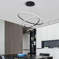 뜨거운 현대 led 펜 던 트 조명 식사 룸 거실 화이트/블랙/커피 북유럽 램프 lampadario moderno lustre 펜 던 트 램프