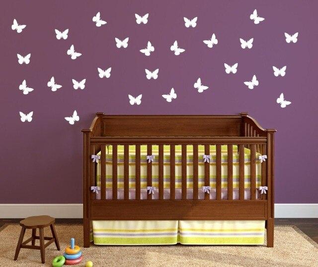 Set von Gemusterten Litlle Schmetterlinge Wandtattoo Schmetterling ...
