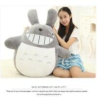 1pcs Lot Anime Totoro Toys Large Size Collection Smile Totoro Dolls Brinquedos Juguetes Plush Cushion Kids