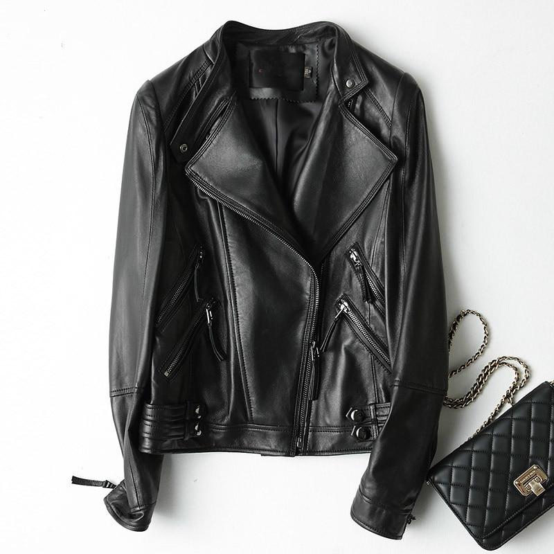 Black Couroie Blouson Véritable Cuir Mouton Automne Printemps Streetwear En 2018 Mf424 Outwear Peau De Jaqueta Femme red Yolanfairy qxCgaSn5a