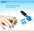 Elite99 Whole Set 48 Color False Nail Tips No Glue Needed Press On Manicure  Colorful Direction For Fingernail