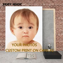 Painting Custom Canvas Waterproof Printing Yourself  Photo Spray Print On Canvas Home Decoration Printing Wall Pictures No Frame