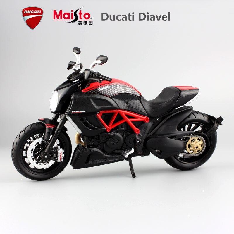 Maisto новый детей Diavel Diecast модель мотоцикл мотоцикл гонки автомобиль миниатюрный металлический Сплав Черный коллекция украшения игрушки
