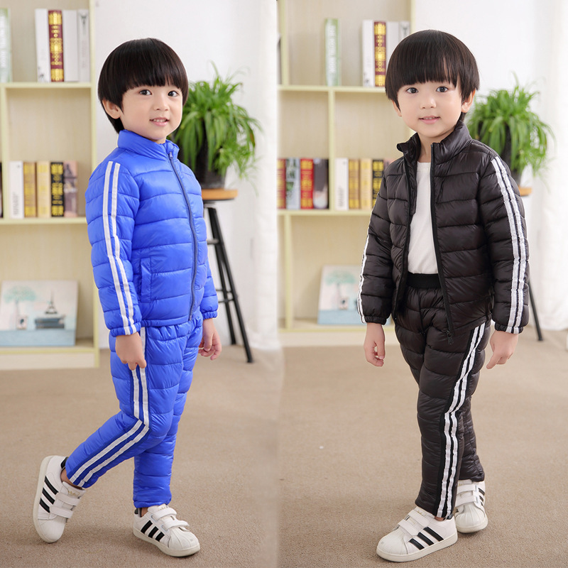 Winter Down Coats Sets Baby Girls Boy Children White Duck Down Coats Kids Clothing Outwear Jackets Infant Warm Outdoor Suits 762 casual 2016 winter jacket for boys warm jackets coats outerwears thick hooded down cotton jackets for children boy winter parkas