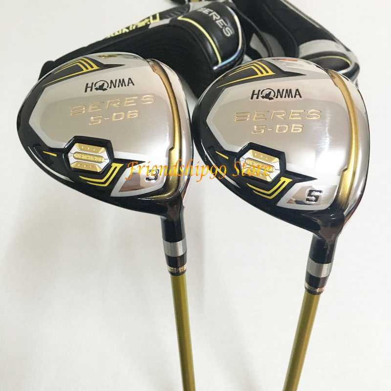 New Golf club HONMA S-06 3 star Golf complete clubs Driver+fairway wood+irons+putter+bag graphite shaft cover freeshipping 3