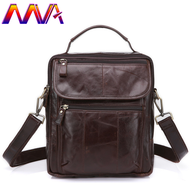 MVA Cheap price genuine leather men crossbody bag with top quality cow leather men vertical shoulder bag men messenger bags 2018 new genuine leather men s bag casual men s messenger bag the first layer of cow leather messenger bag vertical shoulder bag