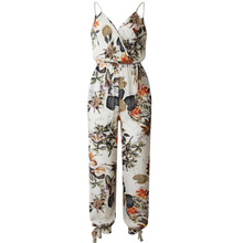 2019 Sexy V Neck Bodysuits Women With Belt Body Femme Rompers Feminino Floral Print Playsuit Spring Summer Jumpsuit недорого
