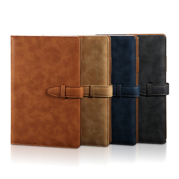 RuiZe A5 hardcover notebook 2020 leather planner agenda organizer office notebook B5 big business notepad  note book soft cover fingerprint lock multi function management book plan notepad agenda business meeting notebook planner gel pen memo pad a5