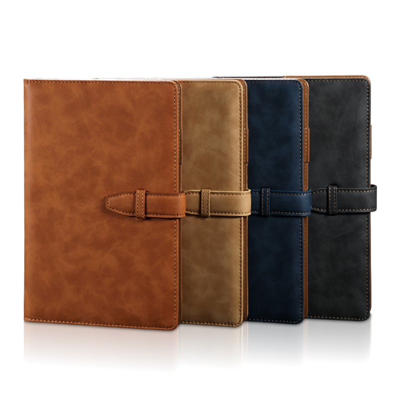 RuiZe A5 vintage notebook cover leather office notebook B5 big notepad agenda planner daily memos note book business stationery