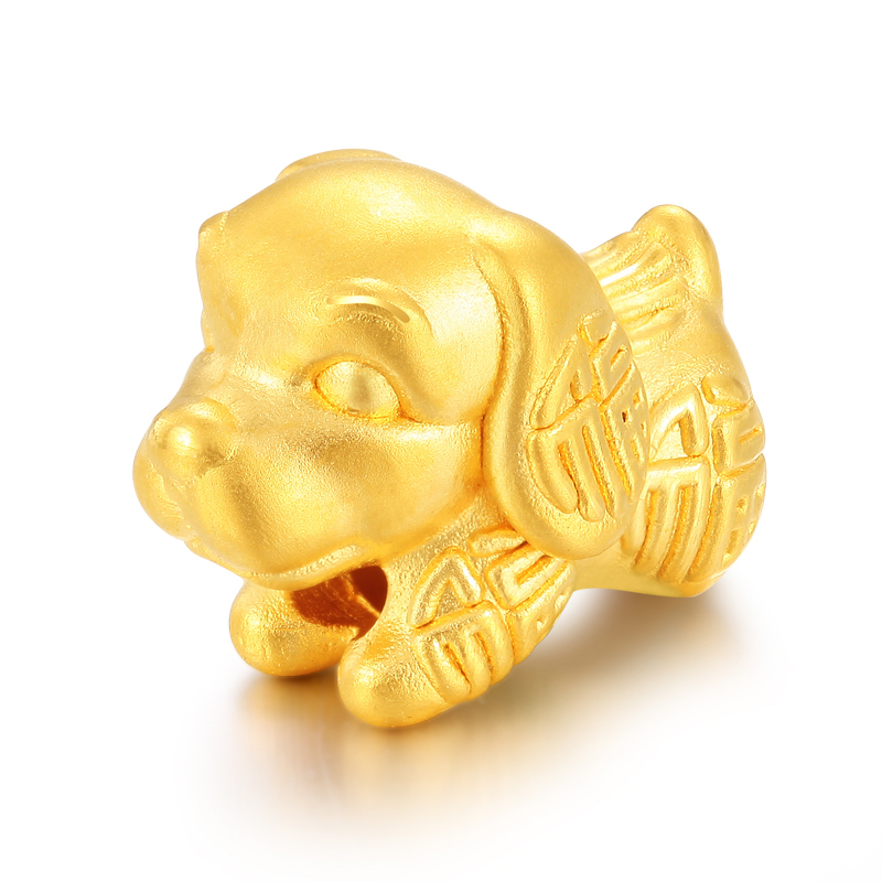 Solid Pure 24K Yellow Gold Bracelet Women 3D 999 Gold Fu Dog Bracelet недорго, оригинальная цена
