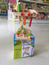 New wooden toy Mini woking tools table blocks baby educational Free shipping Hot Sell
