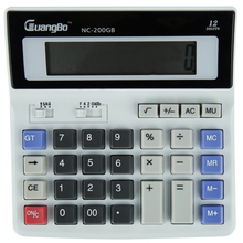 Guangbo Electronic Calculator Big LCD Screen 12 Digit Calculadora Solar Energy Office Accurate High Quality NC-200GB