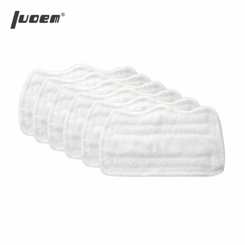LUOEM 6 pcs Substituição Mop Vapor Pano De Microfibra Pad Capa para H2O S3111 (Branco)