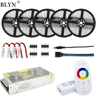 12V 25M 5050 RGB LED Strip (has White color) Waterproof Flexible Tape Rope Light 20M 15M 2.4G RGB Remote Controller Power Supply