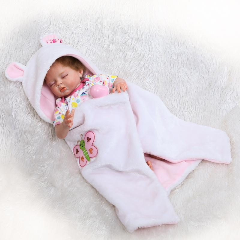 55cm Silicone Reborn Sleeping Girl Baby Doll Toys Like Real Newborn Princess Babies Doll Child Birthday Gift Girls Xmas Present gcr15 6226 zz or 6226 2rs 130x230x40mm high precision deep groove ball bearings abec 1 p0