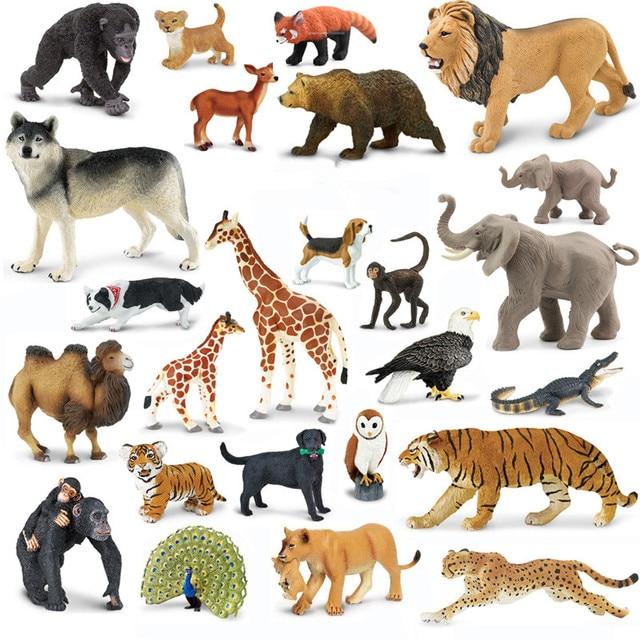 Genuino original fauna animales africanos elefante bulldog cebra