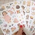6 листов/пакет Новый kawaii девушка бумага стикер/стикер примечания/ярлык Украшения/Многофункциональные/Супер подарок WJ0095