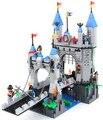 546 шт. Просвещения сборки строительный блок Средневековый Замок Рыцарь пагода Перевозки 1022 игрушки подарок для детей