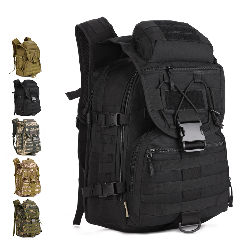 40 Liters Camouflage Army Fans Bag Men Outdoor Sports Backpack Swordfish Tactical Bag Extended Molle Bag