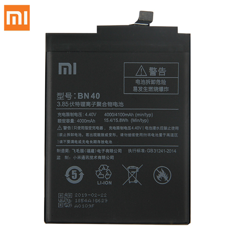 Xiao Mi Original Replacement Phone Battery BN40 For Xiaomi Redmi 4 Pro Prime 3G RAM 32G ROM Edition Redmi4 Battery Tool 4100mAh in Mobile Phone Batteries from Cellphones Telecommunications