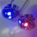 2 x Motocicleta Crânio Esqueleto Chrome Porcas Parafuso Parafusos Azul LED Vermelho Piscando Os Olhos para Honda Yamaha Kawasiki Harley