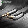 Ugreen 3.5mm cable de audio de 90 grados de ángulo recto conector plano 3.5mm coche aux cable para iphone auriculares beats altavoz aux cable MP3/4