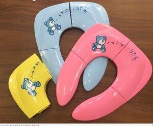 Baby Travel Folding Potty Seat toddler portable Toilet Training seat children urinal cushion children pot chair pad /mat