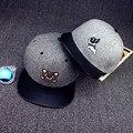 Los hombres de la historieta de hip-hop masculina gorra de béisbol de ocio mujer ocio unisex hueso mujeres chapeau snapback de ala recta