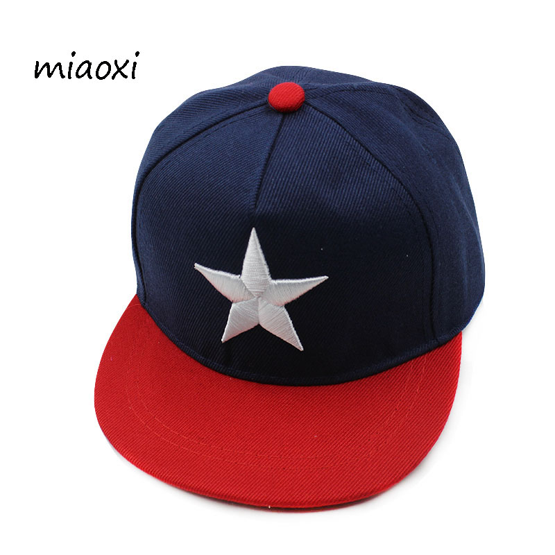 miaoxi New Arrival Boys Star Caps Baseball Cap Girl Adjustable Summer Hat Comfortable Sun Girls Hats Fashion Snapback new pom pom hats kids cotton caps boys baseball caps summer hats caps girls baseball cap 2 8 ages baby children hat gorras