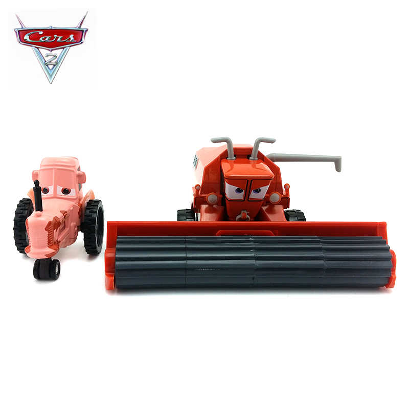Disney Pixar Cars Metal Diecast Car Toy Frank And Tractor Combine Harvester Bulldozer Modle Lightning Mcqueen For Children Gift