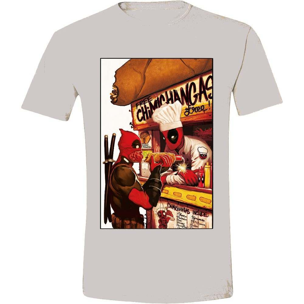 Deadpool love you T-Shirt - Free Chimichangas (grau)