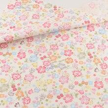 Хлопковая ткань лоскутное шитье швейная ткань Ремесленная Teramila ткани Tecido постельные принадлежности украшение ткань дом текстиль розовый цветочный