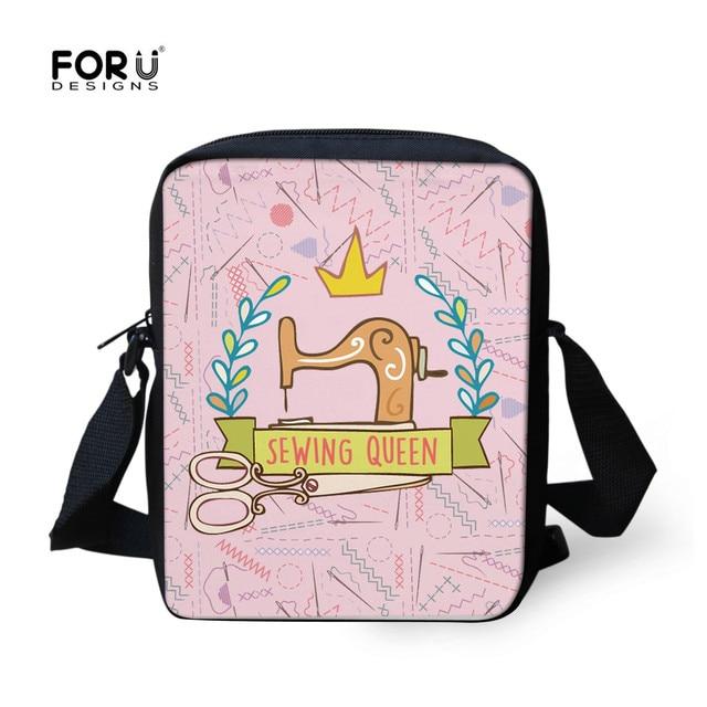 c4e8a217bd6e FORUDESIGNS Cute Mini Messenger Bag For Kids Girls Swing Queen Printed  Crossbody Bags Women Fashion Pink Small Handbag Female